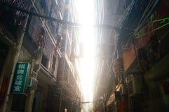 Shenzhen, Cina: il paesaggio del villaggio nella città Fotografie Stock Libere da Diritti