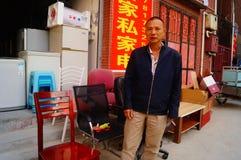Shenzhen, Cina: il paesaggio del villaggio nella città Immagini Stock Libere da Diritti