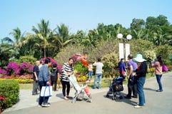 Shenzhen, Cina: Paesaggio del parco di Lotus Hill Fotografia Stock Libera da Diritti