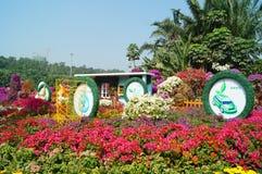 Shenzhen, Cina: Paesaggio del parco di Lotus Hill Fotografie Stock