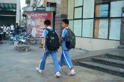 Shenzhen, Cina: paesaggio dell'entrata del sottopassaggio Fotografia Stock