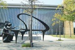 Shenzhen, Cina: paesaggio della scultura della città Fotografia Stock Libera da Diritti