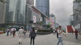 Shenzhen, Cina: paesaggio della via di elettronica di huaqiangbei fotografia stock libera da diritti