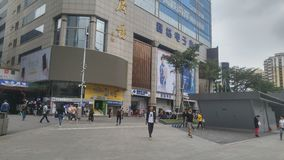 Shenzhen, Cina: paesaggio della via di elettronica di huaqiangbei immagine stock