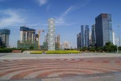 Shenzhen, Cina: Parco della plaza di lungomare Immagini Stock