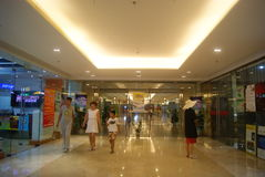 Shenzhen, Cina: Plaza commerciale sotterranea Immagine Stock