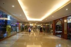 Shenzhen, Cina: Plaza commerciale sotterranea Fotografia Stock Libera da Diritti