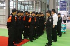 Shenzhen, Cina: raccolta delle guardie giurate Immagini Stock Libere da Diritti