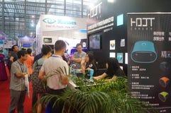 Shenzhen, Cina: realtà virtuale internazionale, mostra olografica di tecnologia Fotografia Stock Libera da Diritti