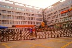 Shenzhen, Cina: Servizio della scuola secondaria di Xixiang e della High School Immagine Stock Libera da Diritti
