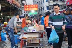 Shenzhen, Cina: stalle dello spuntino Fotografie Stock