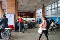 Shenzhen, Cina: Supermercato di WAL-MART all'entrata Immagini Stock