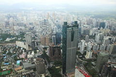 Shenzhen city building plan view of the Royalty Free Stock Photos