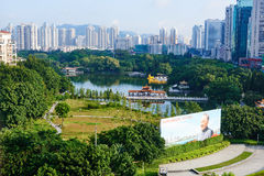 Shenzhen city and central park Stock Photos