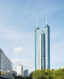 Shenzhen city and diwang mansion Stock Photo