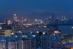 Shenzhen city, Guangdong, China Night Stock Photo