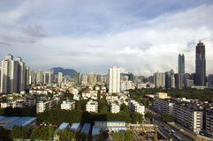 Shenzhen cityscape, Luohu district Stock Image