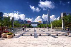 Shenzhen Civic Center and City View royalty free stock photo