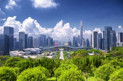 Shenzhen Civic Center and City View stock photo