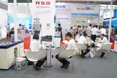 Shenzhen Convention and Exhibition Center: 2015 Southern China International Industrial Automation Exhibition Stock Photography