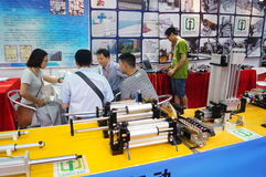 Shenzhen Convention and Exhibition Center: 2015 Southern China International Industrial Automation Exhibition Stock Image