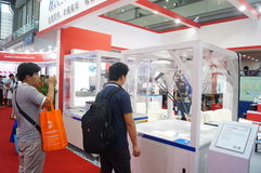 Shenzhen Convention and Exhibition Center: 2015 Southern China International Industrial Automation Exhibition Royalty Free Stock Photography