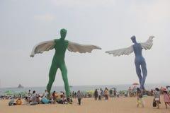 Shenzhen Dameisha baignant le ¼ ŒCHINA, ASIE de beachï Photographie stock libre de droits