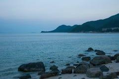Shenzhen Dapeng Peninsula in South Yangmeikeng town charm of the beach early in the morning Royalty Free Stock Photo