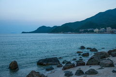Shenzhen Dapeng Peninsula in South Yangmeikeng town charm of the beach early in the morning Royalty Free Stock Image