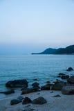 Shenzhen Dapeng Peninsula in South Yangmeikeng town charm of the beach early in the morning Royalty Free Stock Photos
