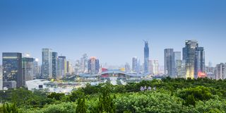 Shenzhen, de Stadshorizon van China royalty-vrije stock foto
