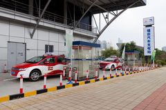 Shenzhen electric car charging stations Royalty Free Stock Images