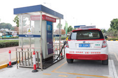 Shenzhen electric car charging stations Stock Images