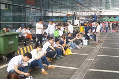 Shenzhen Exhibition Center Lobby, people eat at lunch Royalty Free Stock Photos