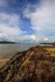 shenzhen för dag för porslinstad kust- sikt Arkivfoto