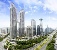 Shenzhen Futian CBD Day View Stock Photo