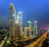 Shenzhen Futian CBD night Stock Image