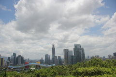 Shenzhen Futian centralt område Arkivbilder