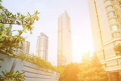 Shenzhen futian commercial center district Royalty Free Stock Photo
