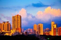 Shenzhen Futian sunset Royalty Free Stock Photography