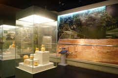 Shenzhen: Guangdong, Chinese unearthed cultural relics exhibition Royalty Free Stock Image