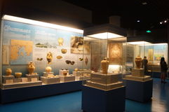 Shenzhen: Guangdong, Chinese unearthed cultural relics exhibition Stock Image
