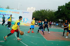 Shenzhen Hongkong youth basketball Carnival activities Stock Photo