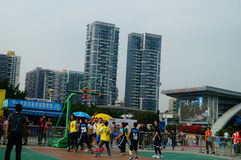 Shenzhen Hongkong youth basketball Carnival activities Stock Photos