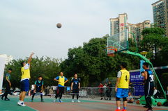 Shenzhen Hongkong youth basketball Carnival activities Stock Image