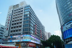 Shenzhen Huaqiang North many-storied buildings landscape Stock Photography