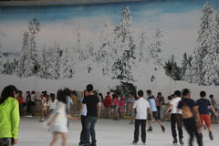 SHENZHEN indoor Ice Rink Royalty Free Stock Images