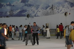 SHENZHEN indoor Ice Rink Royalty Free Stock Image