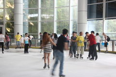 SHENZHEN indoor Ice Rink Stock Images