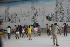 SHENZHEN indoor Ice Rink Royalty Free Stock Photos